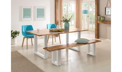 Home affaire Sitzbank »Melody«, aus massivem Akazienholz mit einer naturbelassenen... kaufen