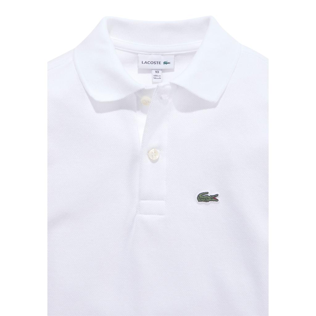 Lacoste Langarm-Poloshirt, mit klein Brustapplikation