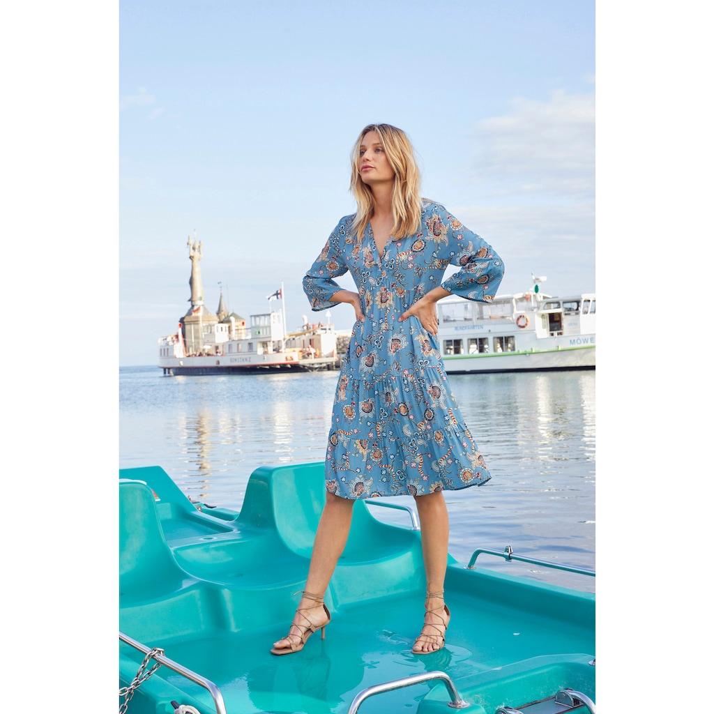 Aniston CASUAL Tunikakleid, mit fantasievollem Blumendruck - NEUE KOLLEKTION