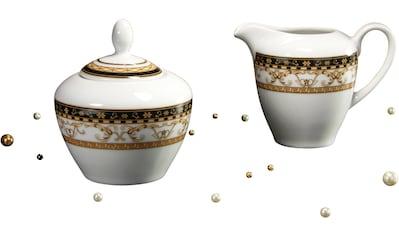 CreaTable Milch- und Zuckerset »Majestosa«, (Set, 2 tlg.), Dekor schwarz abgesetzt kaufen