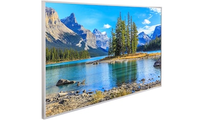 PAPERMOON Infrarotwandheizgerät »Berge Insel Maligne See, EcoHeat «, Aluminium, 600 W, 100x60 cm, mit Rahmen kaufen