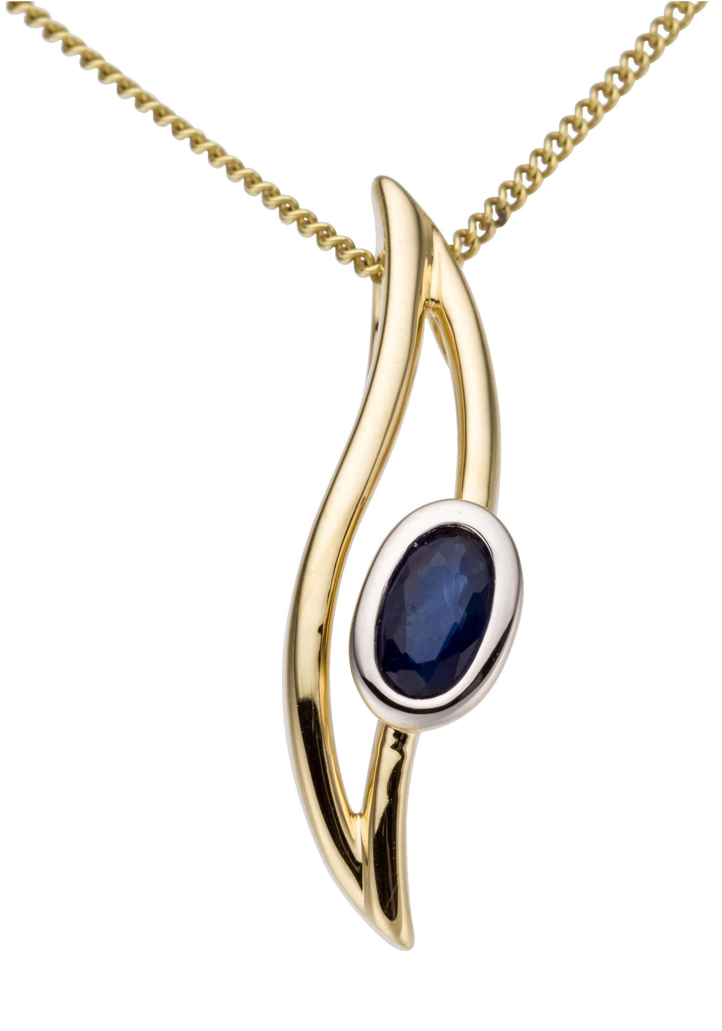 Firetti Kettenanhänger Oval rhodinierte Fassung glanz massiv | Schmuck > Halsketten > Kettenanhänger | Firetti