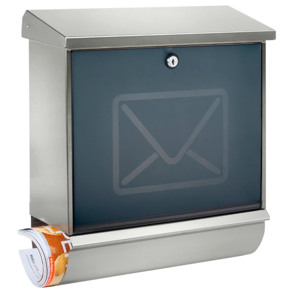Burg Wächter Briefkasten »Lucca-Set 37130 Ni Letter«, mit separatem Zeitungsfach, aus Edelstahl