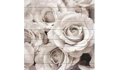 queence Holzbild »Blumenstrauß Edelweiß«, 40x40 cm kaufen