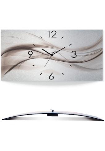 Artland Wanduhr »Abstraktes Design - schöne Welle«, 3D Optik gebogen, silber-metallic,... kaufen