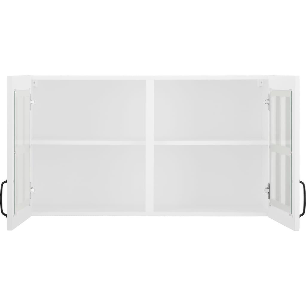 wiho Küchen Glashängeschrank »Erla«, Front mit Glaseinsatz