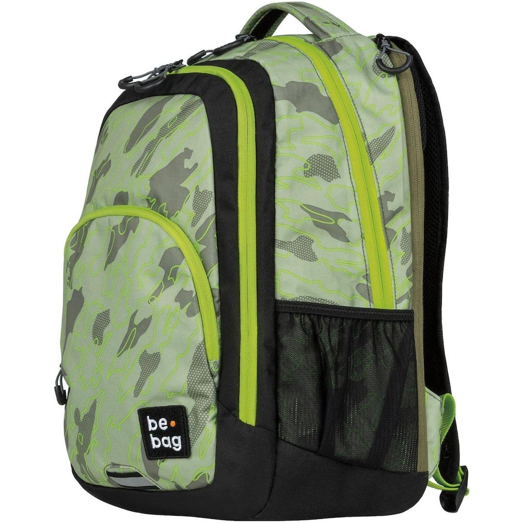 Herlitz Schulrucksack »be.bag be.ready, abstract camouflage«, Reflektionsnähte-reflektierende Streifen auf den Schultergurten