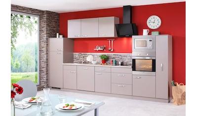 wiho Küchen Küchenzeile »Kansas«, mit E-Geräten, Breite 370 cm kaufen
