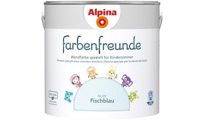 ALPINA Wand -  und Deckenfarbe »Farbenfreunde«, Fischblau 2,5 l kaufen