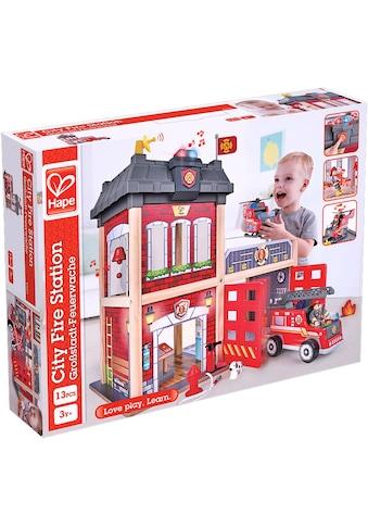"""Hape Spiel - Feuerwehrwache """"Großstadt - Feuerwache"""" kaufen"""