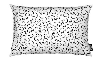 Juniqe Dekokissen »Memphis Squiggle«, Weiches, allergikerfreundliches Material kaufen