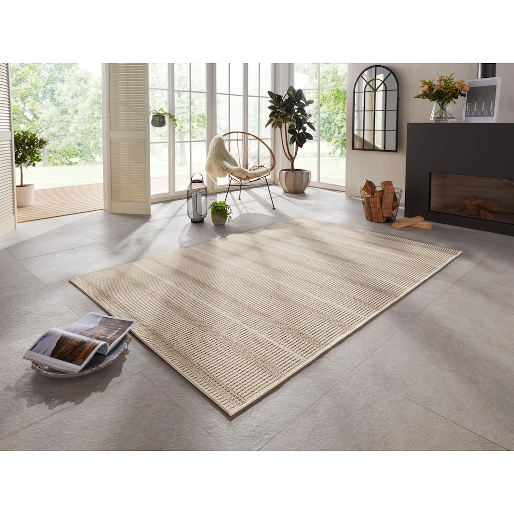 ELLE Decor Teppich »Laon«, rechteckig, 8 mm Höhe, In- und Outdoor geeignet, Wohnzimmer