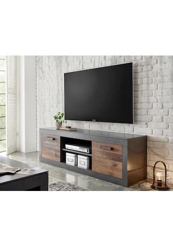 Home affaire Lowboard »BROOKLYN«, in dekorativer Rahmenoptik, Fernsehtisch im Industrial Stil kaufen