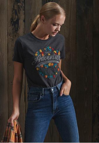 Superdry T-Shirt, Folk T-Shirt mit Blumen-Print kaufen