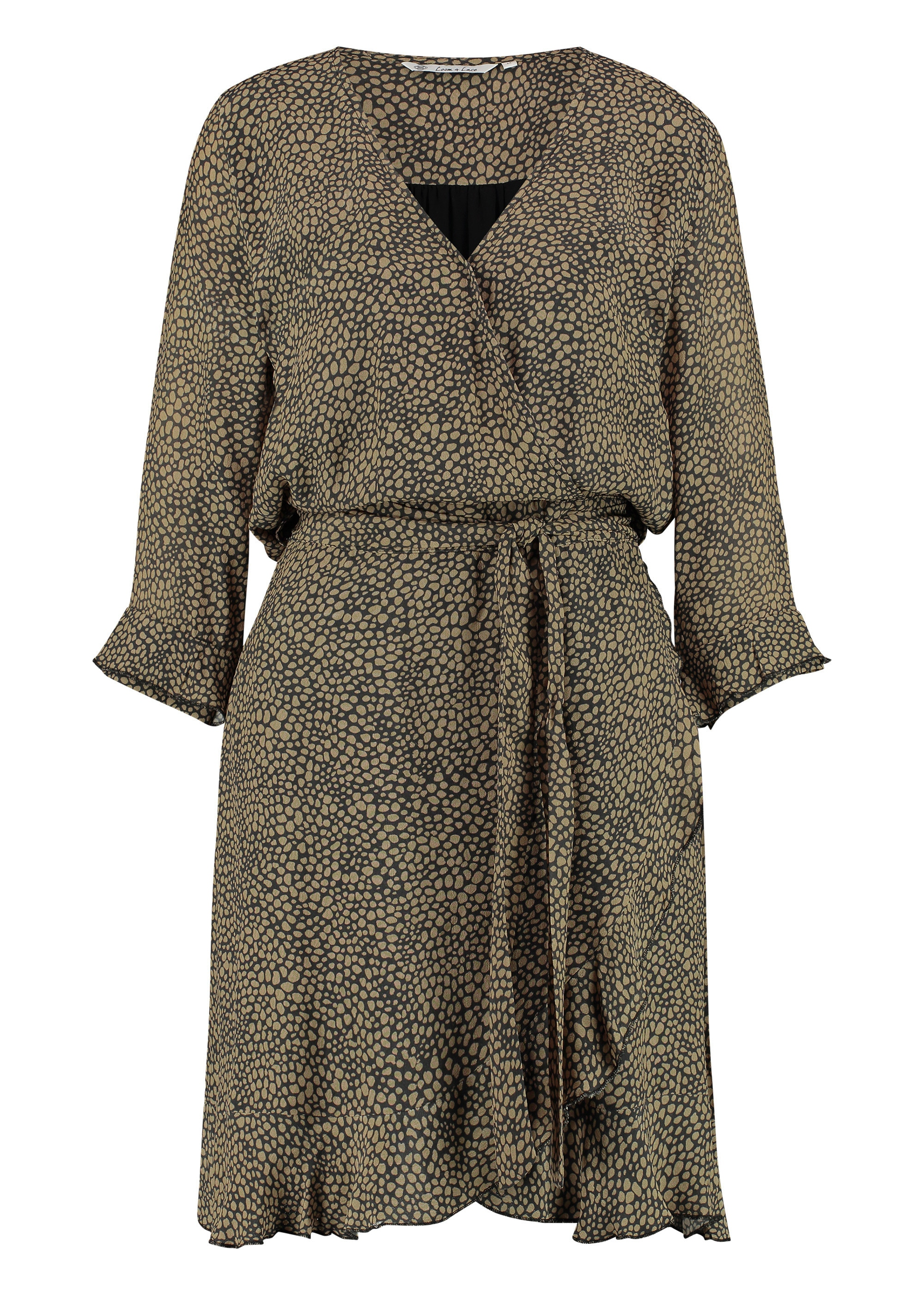 Loom&Lace Druckkleid mit Bindegürtel Penny | Bekleidung > Kleider > Druckkleider | Loom&Lace