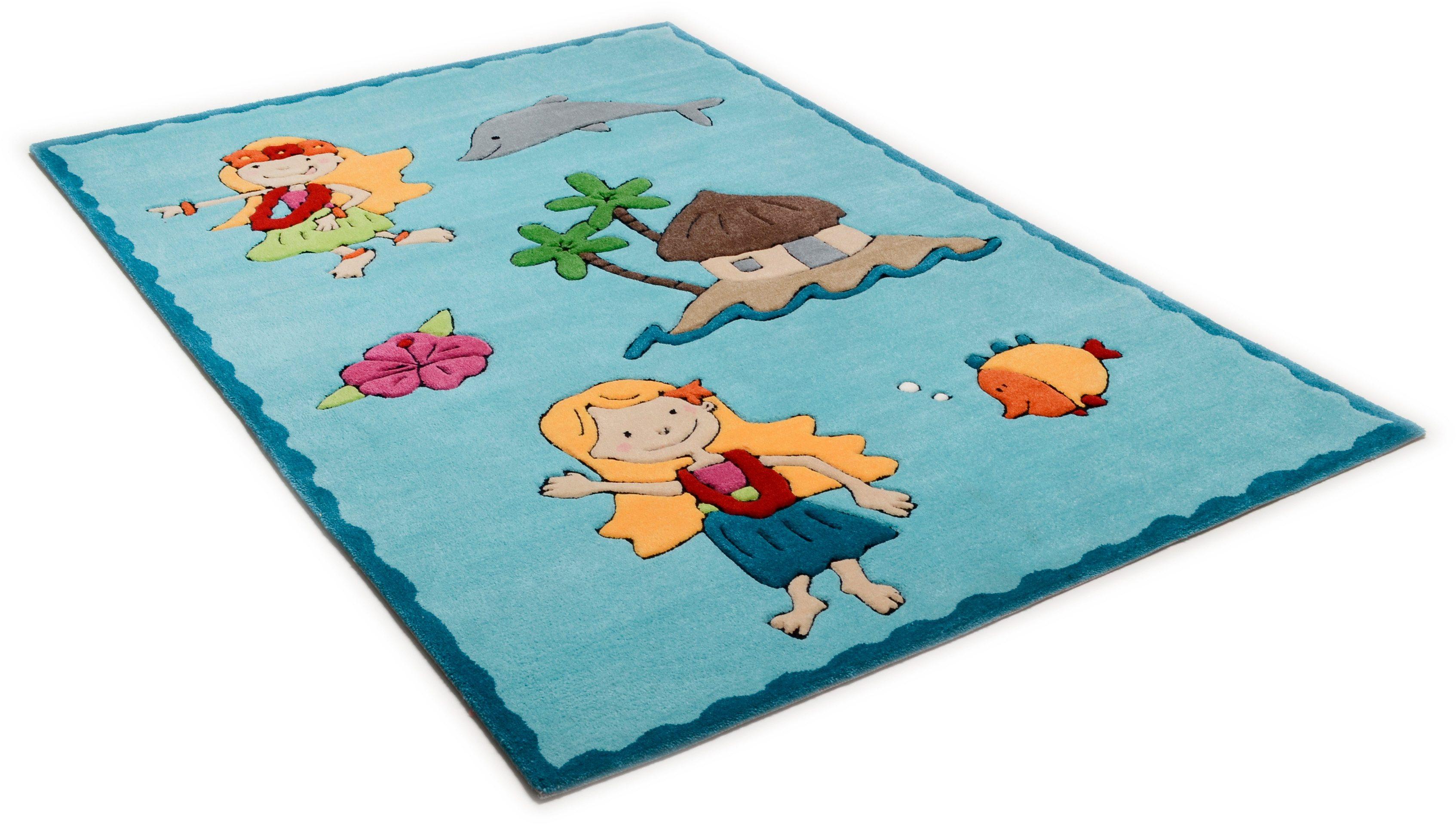 Kinderteppich Maya THEKO rechteckig Höhe 14 mm handgetuftet