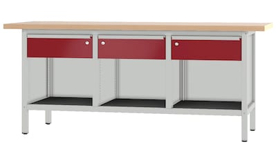 PADOR Werkbank »31 S 111/20 R«, B/T/H: 200x70x85,5 cm kaufen