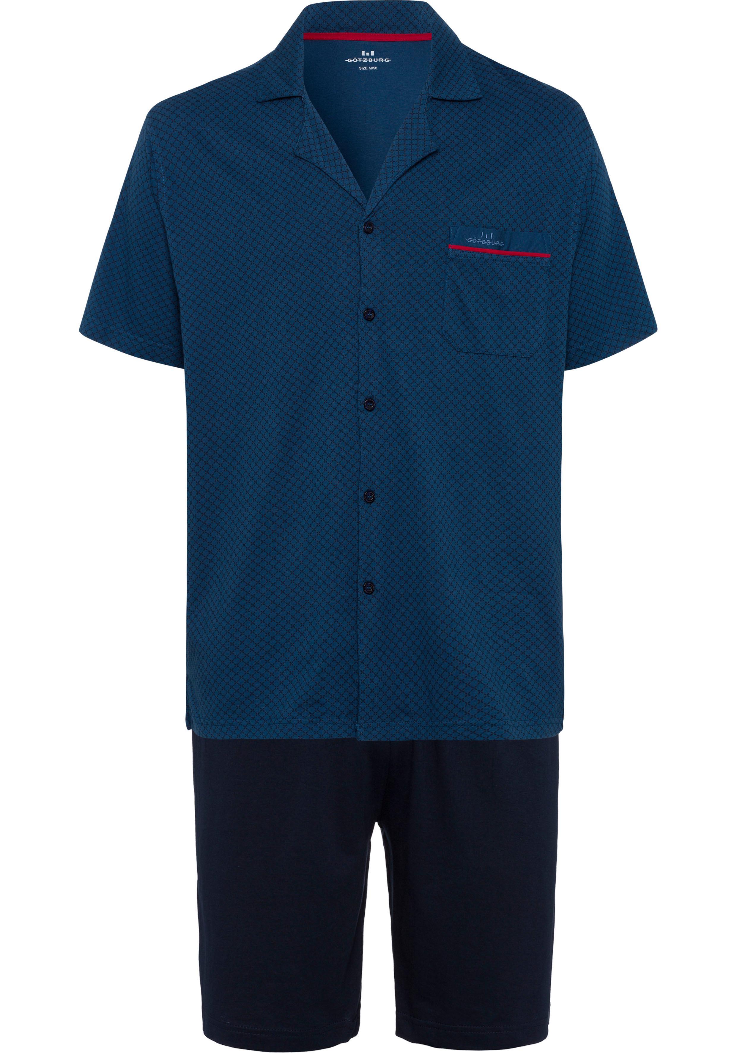 Götzburg Pyjama kurz   Bekleidung > Wäsche   Blau   Götzburg
