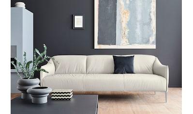 W.SCHILLIG 3-Sitzer »sally«, mit Metallfüßen in Silber matt, Breite 224 cm kaufen