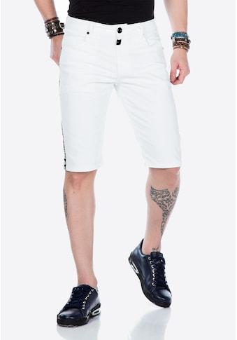 Cipo & Baxx Shorts, mit Flansch und Streifen kaufen