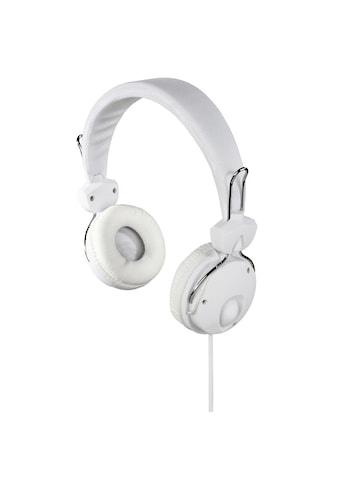 "Hama Kopfhörer ""Fun4Phone"", On - Ear, Mikrofon »Einseitige Kabelführung, Weiß« kaufen"