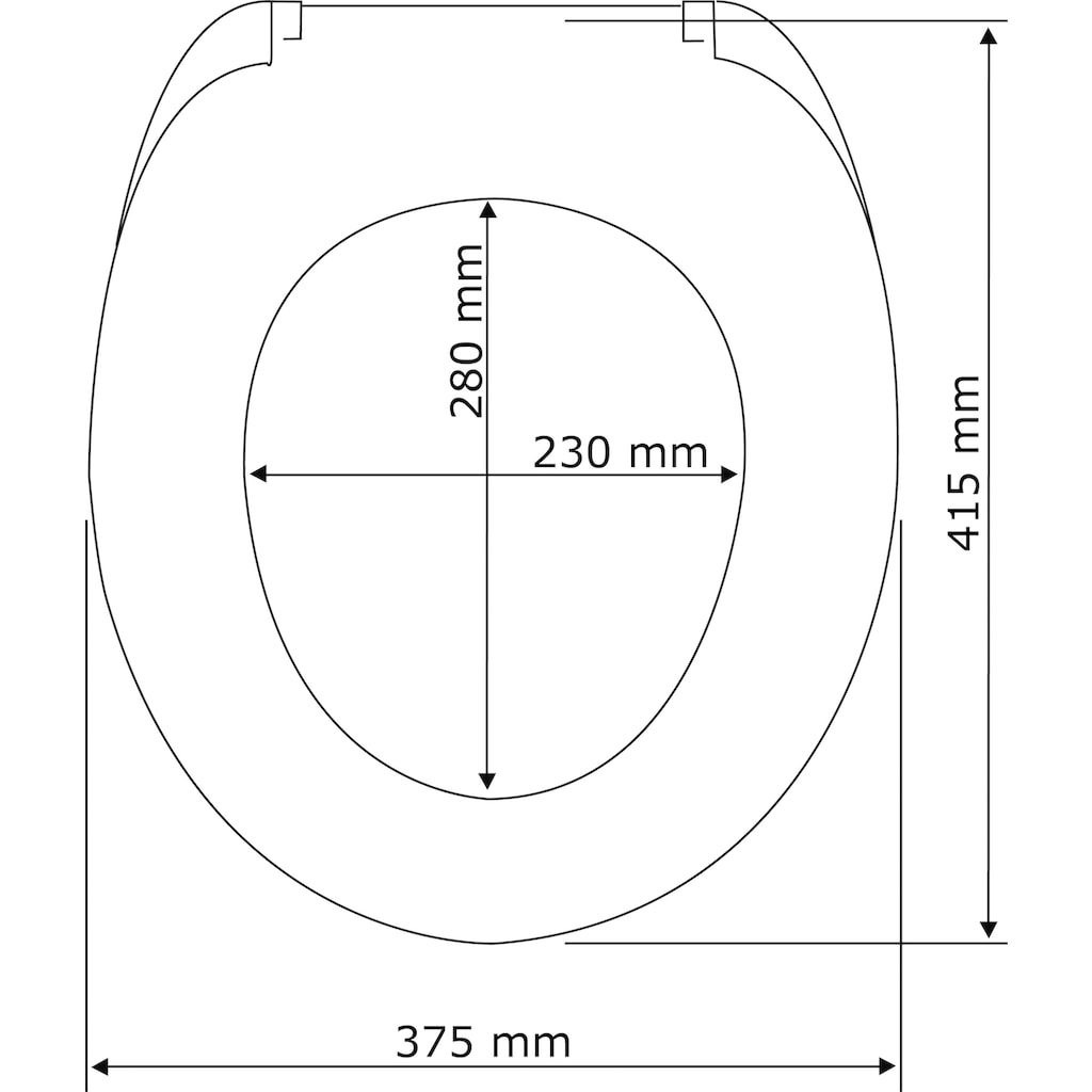 WENKO WC-Sitz »Samos«, Mit Absenkautomatik