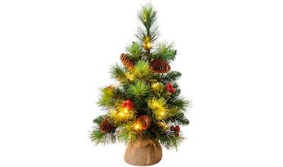 näve LED-Leuchtzweig »LED-Weihnachtsbaum mit Beeren und Tannenzapfen - h: 45cm«, Timer kaufen
