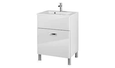 Held Möbel Mineralgussmarmor Waschtisch / Waschbecken »Mailand«, Breite 60 cm, inkl. Unterschrank kaufen