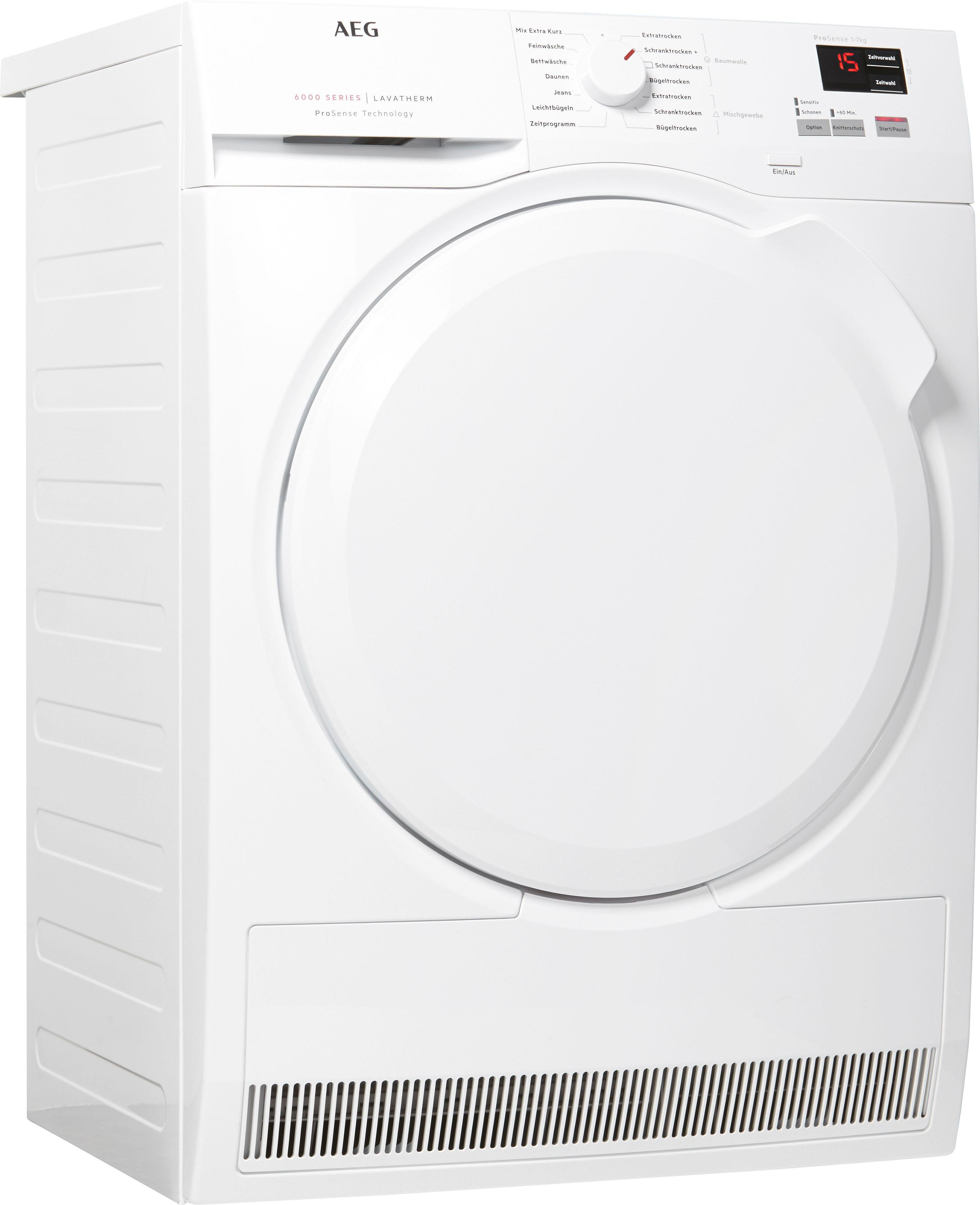 AEG Kondenstrockner 6000 T6DB40370 7 kg   Bad > Waschmaschinen und Trockner > Kondenstrockner   Weiß   Aeg Electrolux