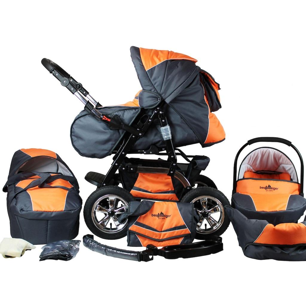 """bergsteiger Kombi-Kinderwagen """"Milano, orange & grey, 3in1"""", (10-tlg.)"""