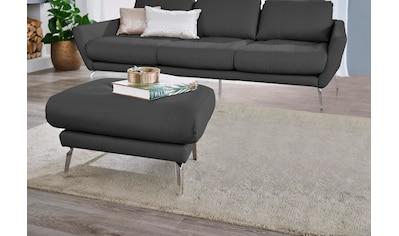 W.SCHILLIG Hocker »softy«, mit dekorativer Heftung im Sitz, Füße Chrom glänzend kaufen
