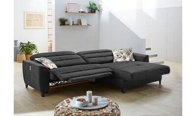 Jockenhöfer Gruppe Ecksofa, mit 2x 120cm breite, elektromotorische Relaxfunktionen im... kaufen