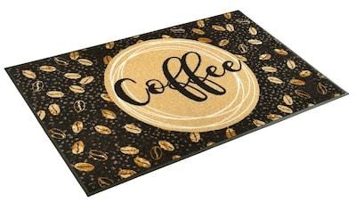 Teppich, »Coffee Beans«, wash+dry by Kleen - Tex, rechteckig, Höhe 7 mm, gedruckt kaufen