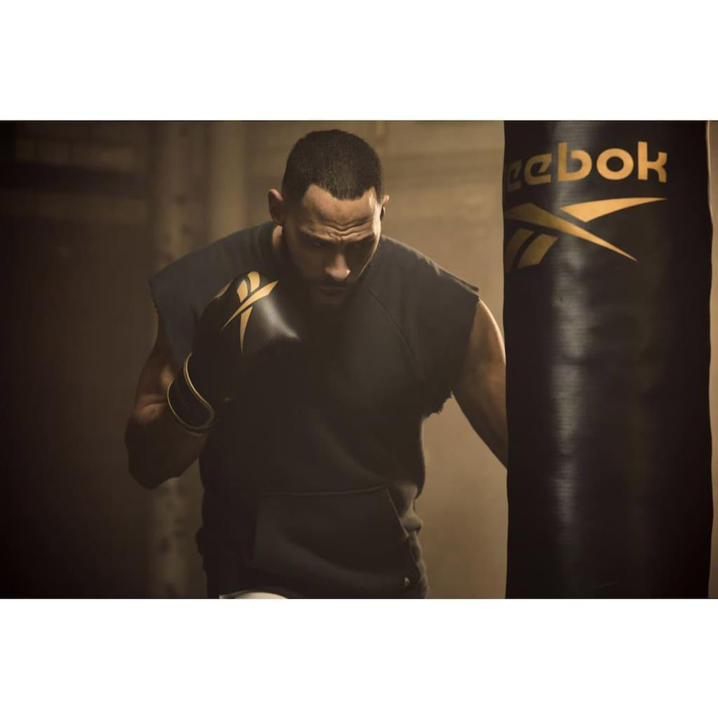 "Reebok Boxsack »Combat Boxsack mit 12 Oz Boxhandschuhen ""Gold""«, (Set, 3 tlg., mit Boxhandschuhen)"