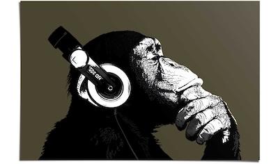 Reinders! Poster »Schimpanse Kopfhörer«, (1 St.) kaufen