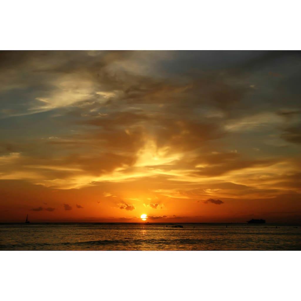 Papermoon Fototapete »Waikiki Beach Oahu«, Vliestapete, hochwertiger Digitaldruck