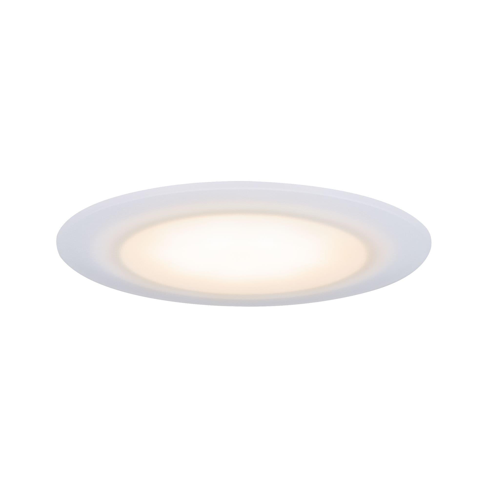 Paulmann LED Einbaustrahler Suon WarmDim 2000-2700K 6,5W 230 V Satiniert, 1 St., Warmweiß