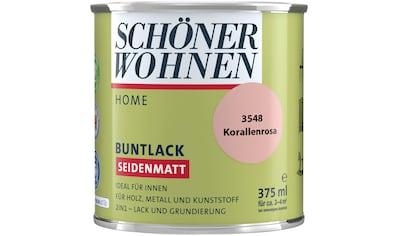 SCHÖNER WOHNEN-Kollektion Lack »Home«, seidenmatt, 375 ml, korallenrosa kaufen