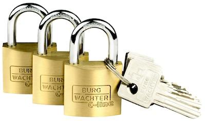 Burg Wächter Vorhängeschloss »Trio 222 30 SB« kaufen