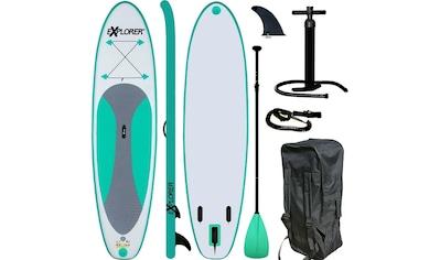 EXPLORER Inflatable SUP-Board »Explorer SUP 300«, (Set, 6 tlg., mit Paddel, Pumpe und... kaufen