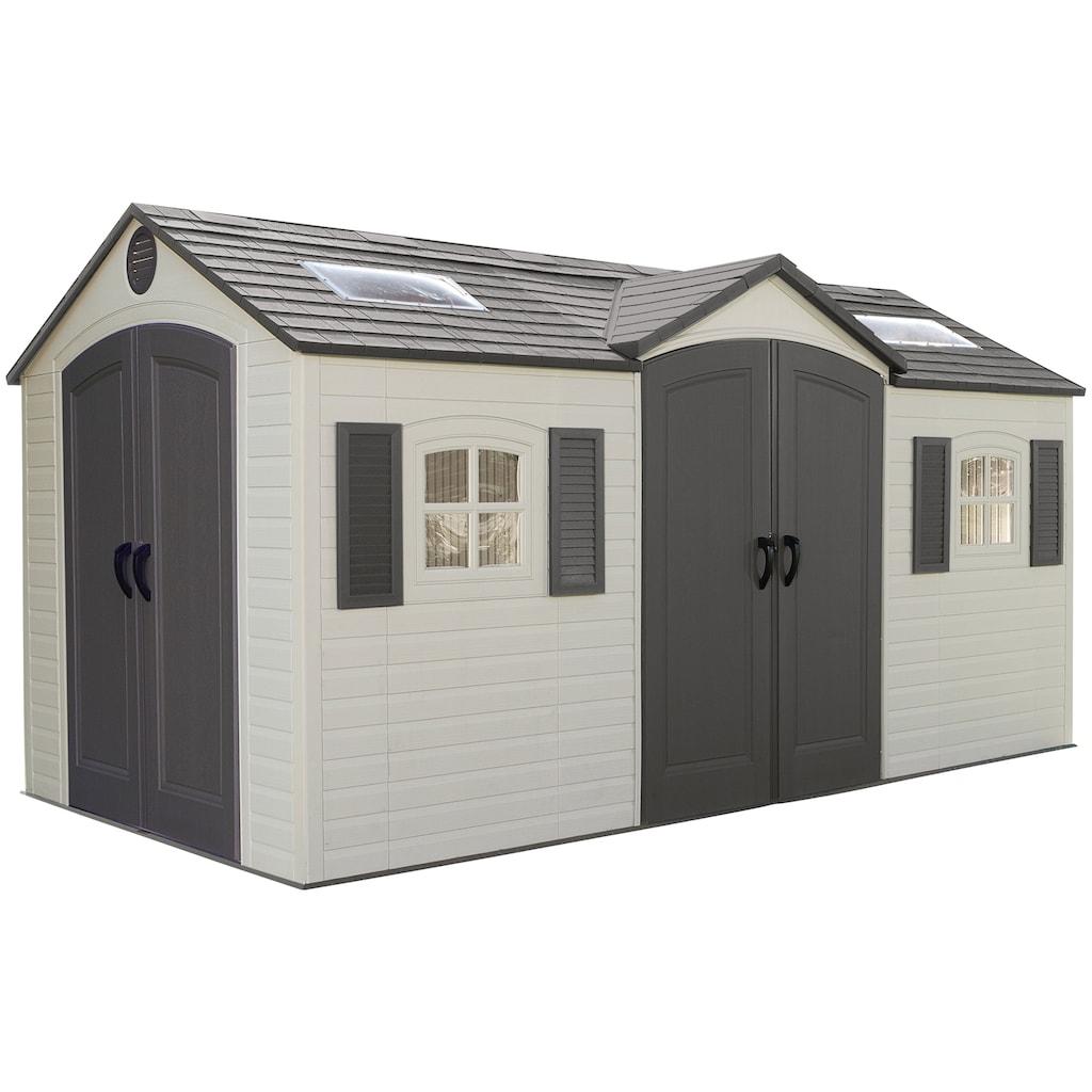 Lifetime Gerätehaus »Residenz«, inkl. Fußboden, Regale und Geräteleiste