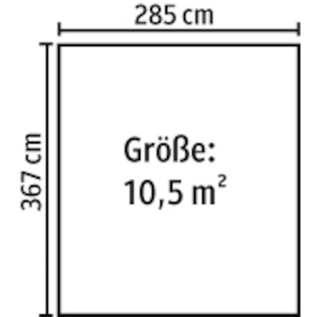 YARDMASTER Stahlgerätehaus »Brandenburg 1012«, BxT: 303x376 cm