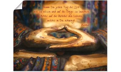 Artland Wandbild »Weisheit« kaufen