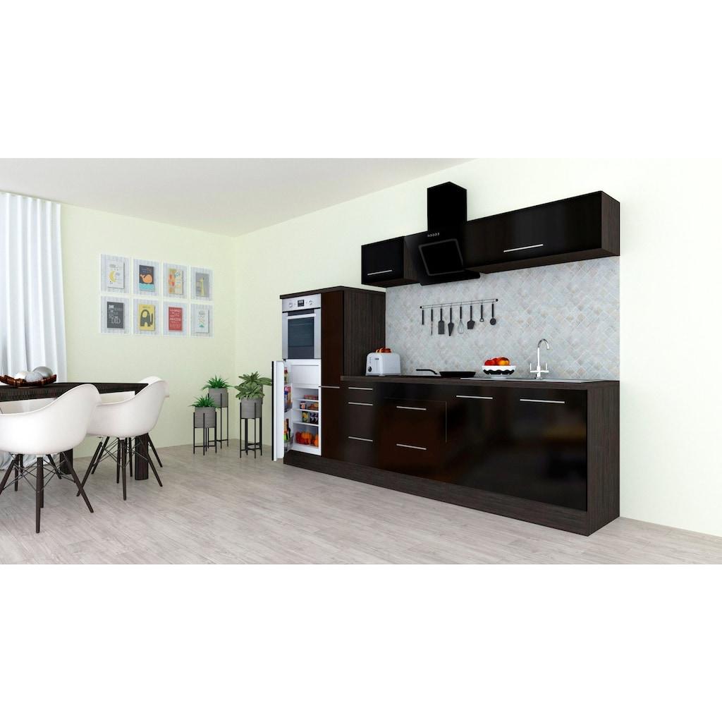 RESPEKTA Küchenzeile »RP300«, mit E-Geräten, Breite 300 cm