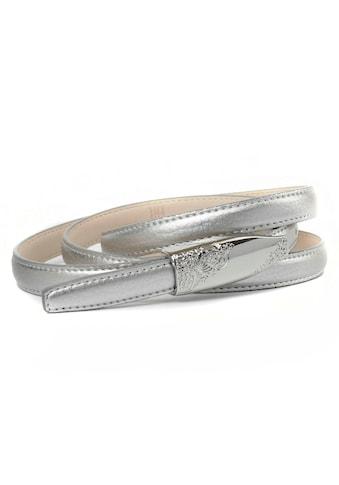 Anthoni Crown Ledergürtel, in schmaler Form mit filigraner Schließe kaufen