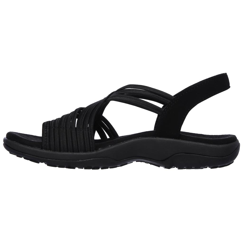 Skechers Sandale »REGGAE SLIM«, mit elastischen Riemchen