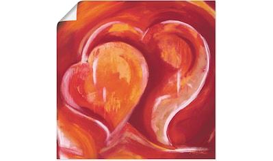 Artland Wandbild »Abstrakte Herzen - Rot«, Herzbilder, (1 St.), in vielen Größen &... kaufen