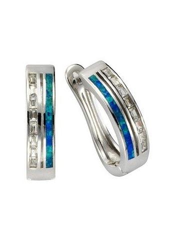 Vivance Paar Creolen »925/- Sterling Silber Opal & Zirkonia«, Creolen kaufen