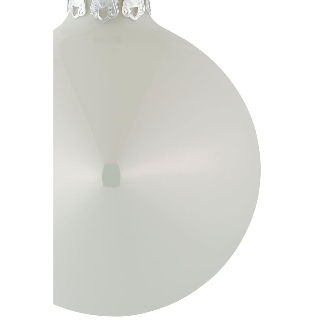 Thüringer Glasdesign Weihnachtsbaumkugel »Chrome«, (Set, 100 St.)