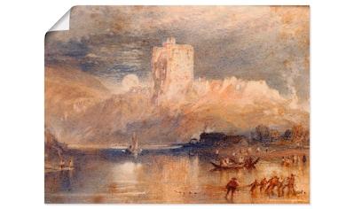 Artland Wandbild »Norham Castle – Mondaufgang«, Gewässer, (1 St.), in vielen Größen &... kaufen
